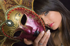 Masked girl Royalty Free Stock Images