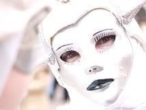 Masked glance. A mask at Venice Carnival Royalty Free Stock Image