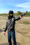 Masked gunman Royalty Free Stock Photo