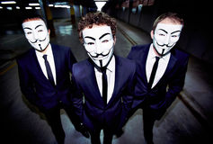 Masked guys Royalty Free Stock Photography
