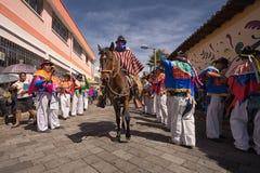 Masked horseback rider Royalty Free Stock Photos