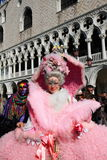 Masked lady at Venice carnival Royalty Free Stock Images