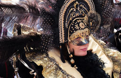 Masked lady at Venice Stock Images