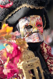 Masked lord at the Carnival of Venice Royalty Free Stock Image