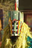 Masked man in African ceremont Stock Images