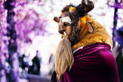 Masked man The Beast Disney. Shoot located in Lucca, Italy. At the Event Lucca Comics and Games Stock Photo