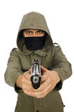The masked man in criminal concept on white Stock Photo