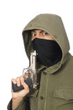 The masked man in criminal concept on white Royalty Free Stock Photography