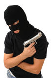 Masked man with gun Royalty Free Stock Photography
