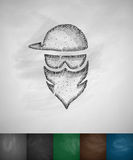 Masked man icon Stock Images