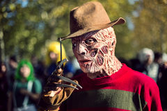 Masked Man with Relief Muscles. Shoot at the Event Lucca Comics Stock Images