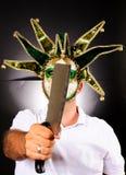 Masked Maniac Stock Image