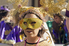 Masked At Mardi Gras Royalty Free Stock Images
