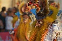 Masked Morenada dancer at the Arica Carnival Royalty Free Stock Photo