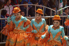 Masked Morenada dancers at the Oruro Carnival in Bolivia Stock Photography