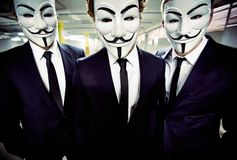 Masked people anonymous  Royalty Free Stock Images