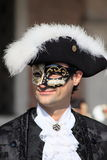 Masked performer at Venice Carnival Stock Photos
