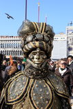 Masked performer at Venice carnival Stock Photo