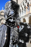 Masked performer at Venice carnival Stock Images