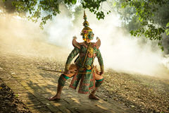 The Masked performing art. Thailand Khon Masked performing art  Ramayana story art culture of asia Royalty Free Stock Image