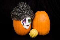 Masked Pumpkin and Friends Stock Photos