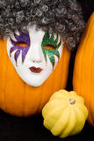 Masked Pumpkin and Friends Royalty Free Stock Photography