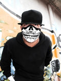 Masked rapper portrait Royalty Free Stock Photos