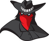 Masked Renegade. Cartoon masked outlaw. Vector and high resolution jpeg files available Stock Photography