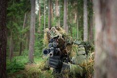 Masked soldier Stock Images