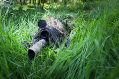 Masked special forces sniper Stock Images