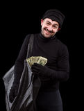 Masked thief Stock Images