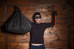 Masked thief royalty free stock photography