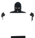 Masked thief - Your message here royalty free stock images