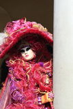 Masked Venetian at Venice carnival Stock Image
