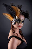 Masked Woman Stock Photo