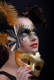 Masked Woman Royalty Free Stock Image