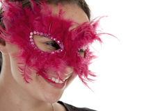 Masked woman. Stock Photo