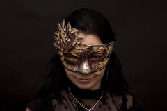 Masked woman Royalty Free Stock Photo