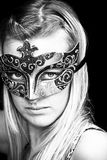 Masked woman stock photography