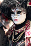 Masked woman at the Carnival of Venice Stock Photo