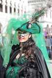 Masked woman during the Carnival of Venice Royalty Free Stock Photography