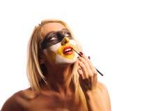 Masked woman Royalty Free Stock Photo