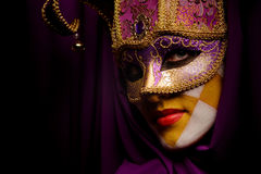 Masked woman Stock Photos