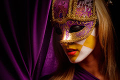 Masked woman Stock Image