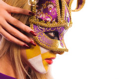 Masked woman Royalty Free Stock Photography