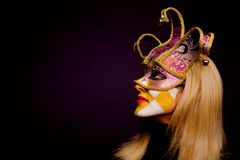 Masked woman Royalty Free Stock Photos