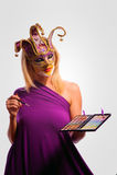 Masked woman Stock Photos