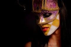 Masked woman Royalty Free Stock Image