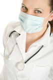 Masked woman doctor Royalty Free Stock Photos