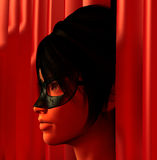 Masked woman illustration Stock Images